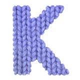 L'alphabet anglais de la lettre K, colorent bleu-foncé Images stock