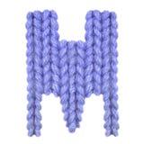 L'alphabet anglais de la lettre M, colorent bleu-foncé Image libre de droits