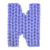 L'alphabet anglais de la lettre N, colorent bleu-foncé Photographie stock libre de droits