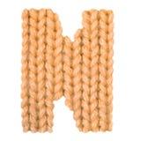 L'alphabet anglais de la lettre N, colorent l'orange Photographie stock libre de droits