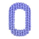 L'alphabet anglais de la lettre O, colorent bleu-foncé Images libres de droits