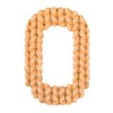 L'alphabet anglais de la lettre O, colorent l'orange Photos stock
