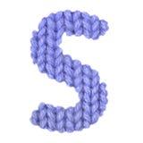 L'alphabet anglais de la lettre S, colorent bleu-foncé Image libre de droits