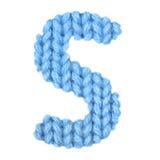 L'alphabet anglais de la lettre S, colorent le bleu Images libres de droits