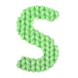 L'alphabet anglais de la lettre S, colorent le vert Image libre de droits