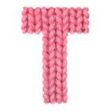 L'alphabet anglais de la lettre T, colorent le rouge Image libre de droits