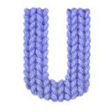 L'alphabet anglais de la lettre U, colorent bleu-foncé Photos libres de droits