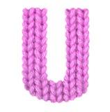 L'alphabet anglais de la lettre U, colorent le rose Photographie stock libre de droits