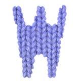 L'alphabet anglais de la lettre W, colorent bleu-foncé Photographie stock libre de droits