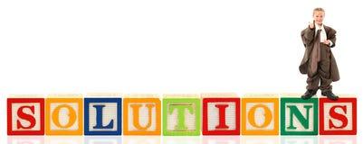 L'alphabet bloque des solutions images stock