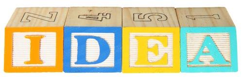 L'alphabet bloque l'IDÉE Photographie stock libre de droits