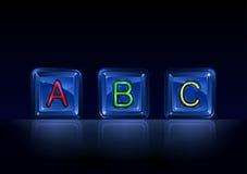l'alphabet bloque salut la technologie en plastique Image stock