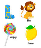 L alphabet cartoon Royalty Free Stock Photos