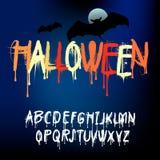 L'alphabet d'éclaboussure de Halloween, ensemble de diverse peinture éclabousse, illustration de vecteur illustration stock