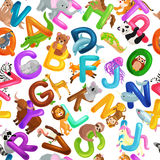 L'alphabet d'animaux a placé pour l'éducation d'ABC d'enfants dans l'école maternelle Photo libre de droits