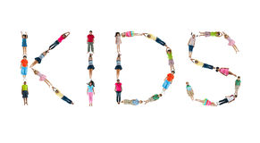 L'alphabet d'enfants du monde exécutent des enfants Photographie stock