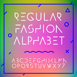 L'alphabet de mode marque avec des lettres la collection Images stock