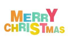 L'alphabet de Noël a fait la mousse de forme d'isolement sur le fond blanc Photos stock