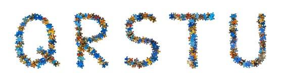 L'alphabet fait en puzzle rapièce - le concept d'éducation image stock