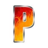 l'alphabet flambe la lettre p Photos stock