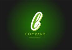 L alphabet letter logo green 3d company vector icon design. L alphabet letter hand written hand writing green white logo 3d vector creative company icon design royalty free illustration