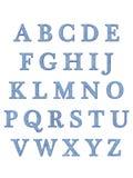 L'alphabet marque avec des lettres 3D Images libres de droits