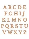 L'alphabet marque avec des lettres 3D Images stock