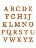 L'alphabet marque avec des lettres 3D Photos stock