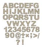 l'alphabet marque avec des lettres des rivets en métal rouillés Photographie stock libre de droits