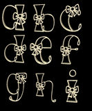 L'alphabet marque avec des lettres a - I Photographie stock libre de droits