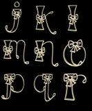 L'alphabet marque avec des lettres l'â r de j Photo stock