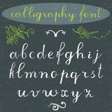 L'alphabet marque avec des lettres la police minuscule et tirée par la main de calligraphie Alphabet de vecteur Remettez les lett Photo libre de droits