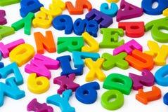 L'alphabet marque avec des lettres le fond Images libres de droits
