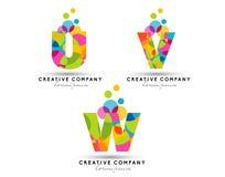 L'alphabet marque avec des lettres le logo Photographie stock libre de droits
