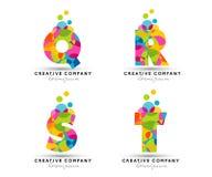 L'alphabet marque avec des lettres le logo Photo stock