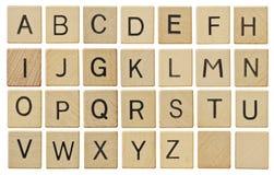 L'alphabet marque avec des lettres le panneau de craie Image stock