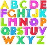 L'alphabet marque avec des lettres le panneau de craie Images libres de droits