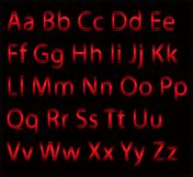 L'alphabet marque avec des lettres le panneau de craie lettres au néon, logo d'alphabet Style de police - illustration de vecteur illustration stock