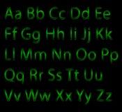 L'alphabet marque avec des lettres le panneau de craie lettres au néon, logo d'alphabet Style de police - illustration de vecteur illustration de vecteur