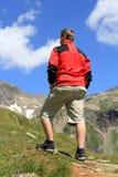 L'alpinista Immagine Stock