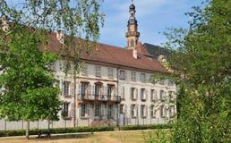 L'Alsazia, il villaggio pittoresco di Molsheim Fotografia Stock