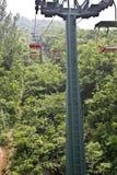 L'alta cabina di funivia di Shaolin Temple fotografia stock