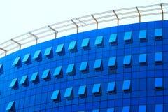 L'alta costruzione architettonica moderna dell'aumento è foto in costruzione Fotografia Stock Libera da Diritti