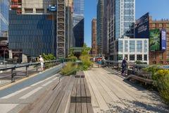 L'alta linea, conosciuta come l'alta linea parco, ha elevato il parco lineare Immagini Stock