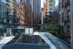 L'alta linea, conosciuta come l'alta linea parco, ha elevato il parco lineare Fotografie Stock
