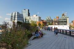L'alta linea, conosciuta come l'alta linea parco, ha elevato il parco lineare Immagine Stock Libera da Diritti