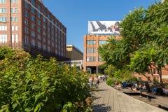 L'alta linea, conosciuta come l'alta linea parco, ha elevato il parco lineare Fotografia Stock