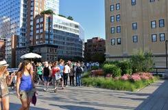 L'alta linea, New York Fotografia Stock Libera da Diritti