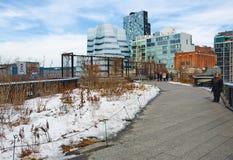 L'alta linea parco di Manhattan New York Fotografia Stock Libera da Diritti