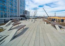 L'alta linea parco di Manhattan New York Immagine Stock Libera da Diritti